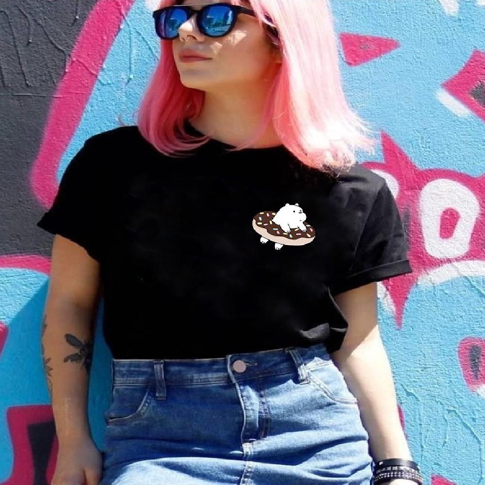 Camisa estampada de Polar en una dona Bolsillo