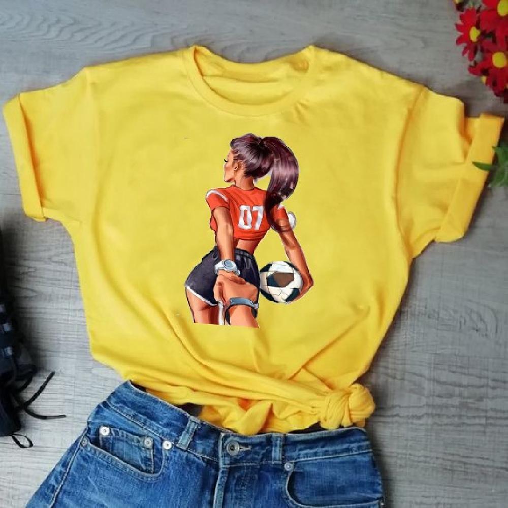 Camisa estampada Futbolista