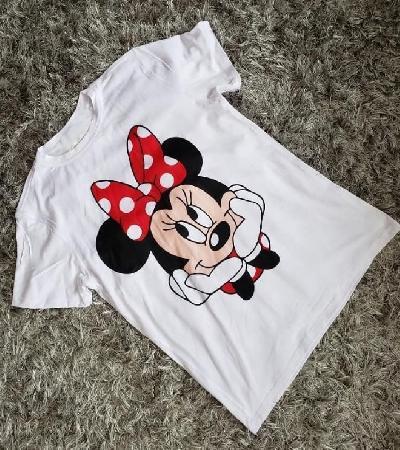 Camisa Blanca Minnie Mouse Happy