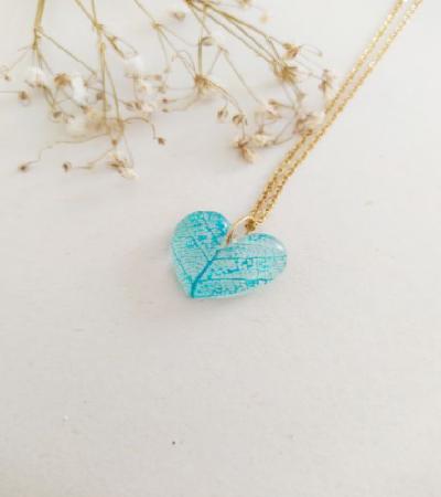 Collar Amor en Azul Aguamarina