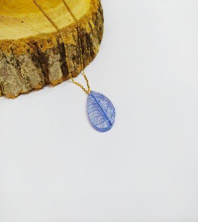 Collar Amor en Azul hortensia
