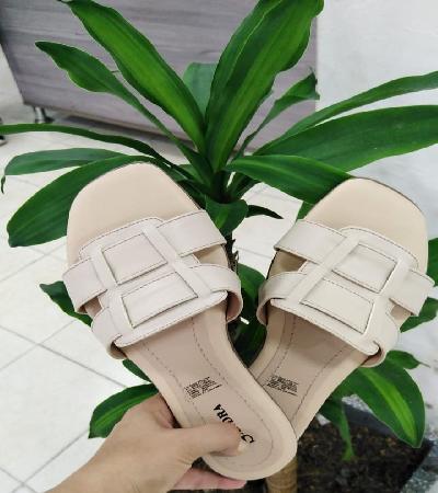 sandalias beige palmera
