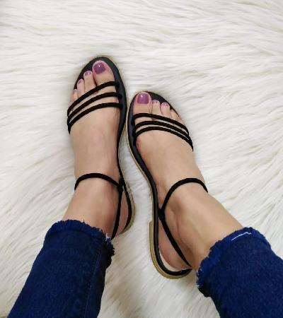 Sandalias con amarre para mujer