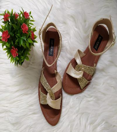 Sandalias dorada escarcha Tabitha