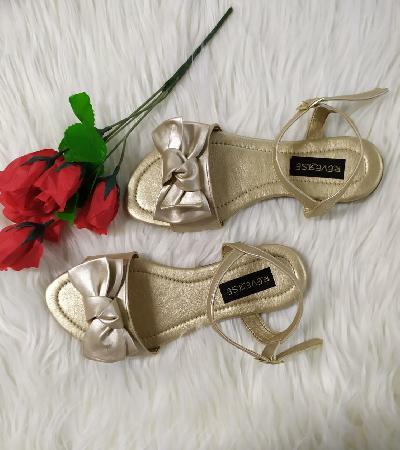 Sandalias dorada lazo Marisa