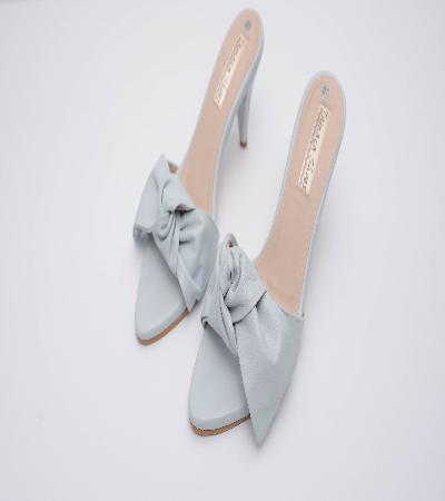 zapatillas de princesa en cuero con semilazo