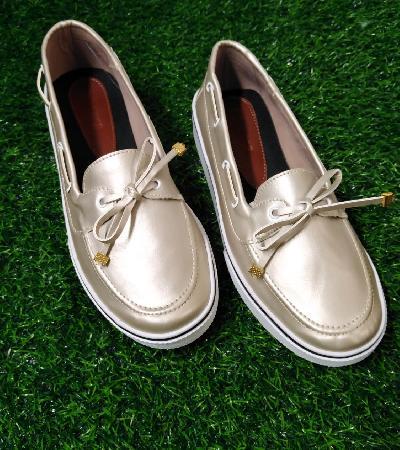 Zapatos Apache con Cordon Maeve dorado