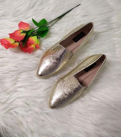 Zapatos Casual punta diamanteFaith dorado